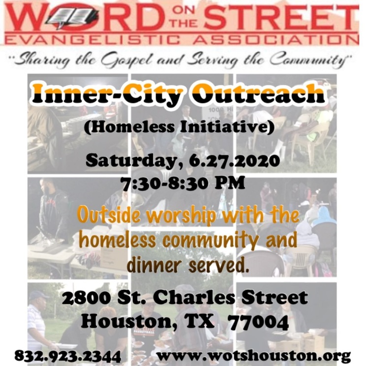 WOTS Homeless Initiative June, 2020